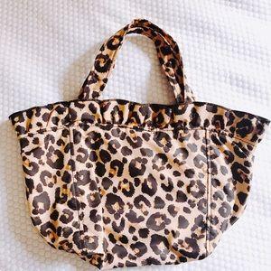 Loeffler Randall Claire nylon leopard tote